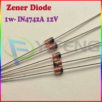 Free Shipping! 1W DIP Zener Diode 1N4742 IN4742A 12V (250PCS/Lot)
