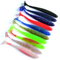 5pcs 10cm Top Quality Pesca Soft Bait Fishing Lure Lead Jig Head Fish Lures Tackle Sharp Bkk Hook wobblers