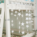 Curtain Series Of Small Stars Home Wedding Party Birthday Hanging Decorations1pcs Star shaped Paper Garlands 4M