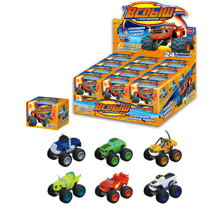 Hot Sale 6pcs/set Blaze Monster Machines Toys Vehicle Car Pickle Zeg Darrington Crusher Stripes Original Box Best Gifts For Kid(China (Mainland))