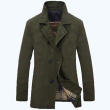 free shipping Spring and autumn men's clothing male  medium-long trench elegant british style plus size male trench outerwear 73(China (Mainland))