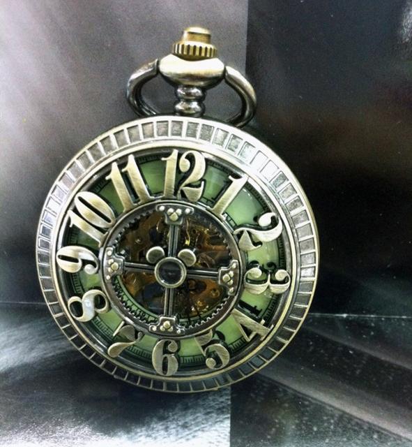 Большой число выдолбите крест дизайн старинные резка-10шт бронзовый механические карманные часы