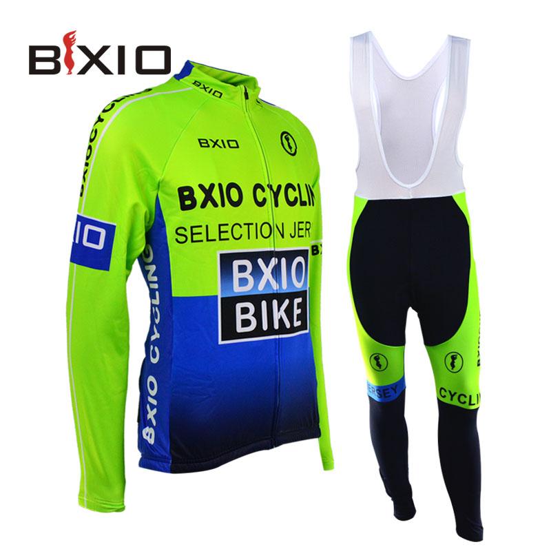 Фотография Bxio Winter Thermal Fleece Cycling Jersey Ciclismo Bike Bicicleta Cycle Clothing Mountain Bike Long Sets Wielerkleding Top Rate