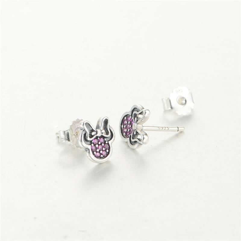925 чистое серебро серьги ювелирные изделия серьги фиолетовый кристалл животное