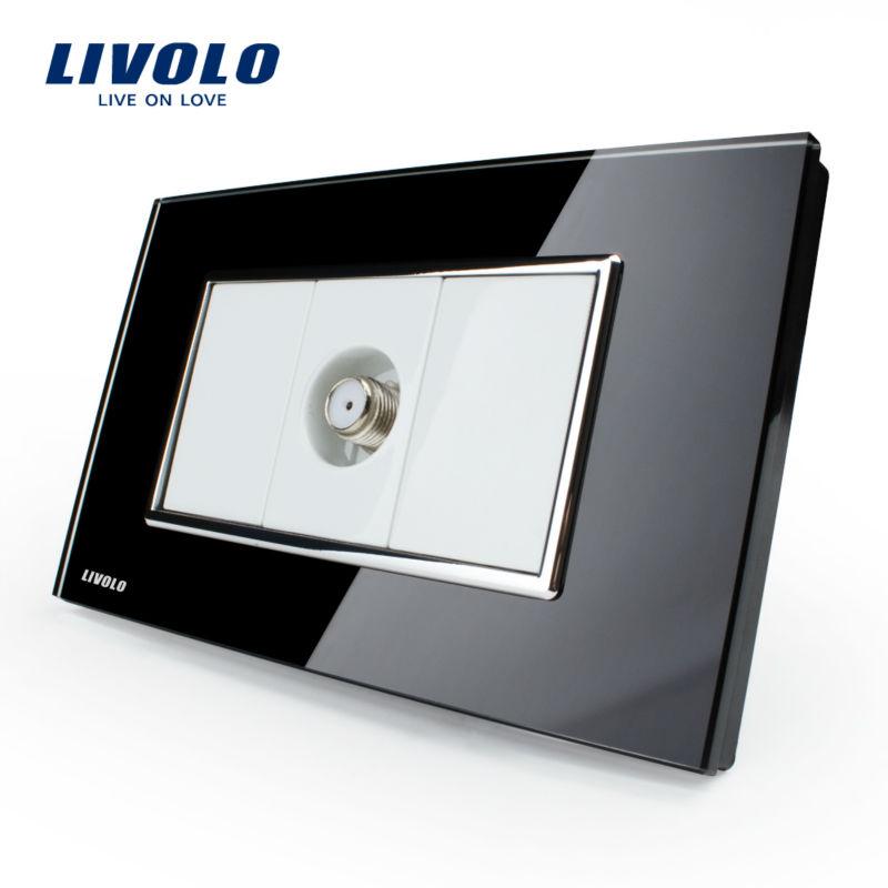 Manufacturer, Livolo US Standard Power Socket,Crystal Glass, VL-C391ST-82, Satellite TV socket(China (Mainland))