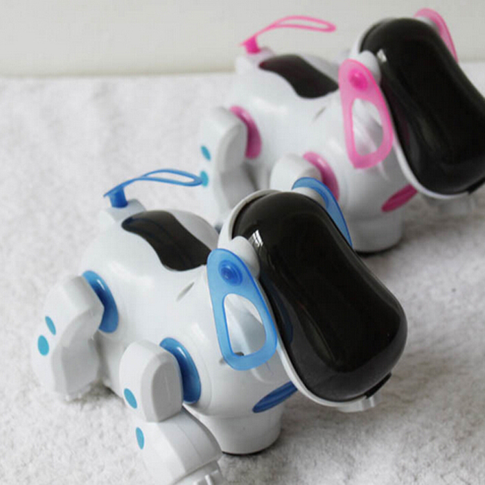 Lovely Electronic Robot Walking Dog Puppy Toy Music Shine Pet Safe Kids Toy Lights(China (Mainland))