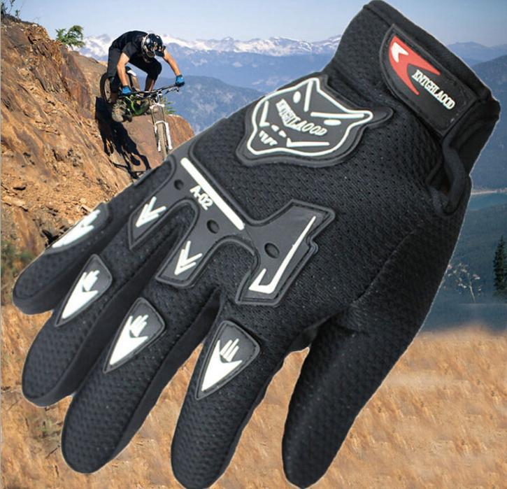 Fashion New Racing Motorcycle Gloves Quality Stylishly Decorated Antiskid Wearable Full Finger Glove Large Size Free Shipping(China (Mainland))