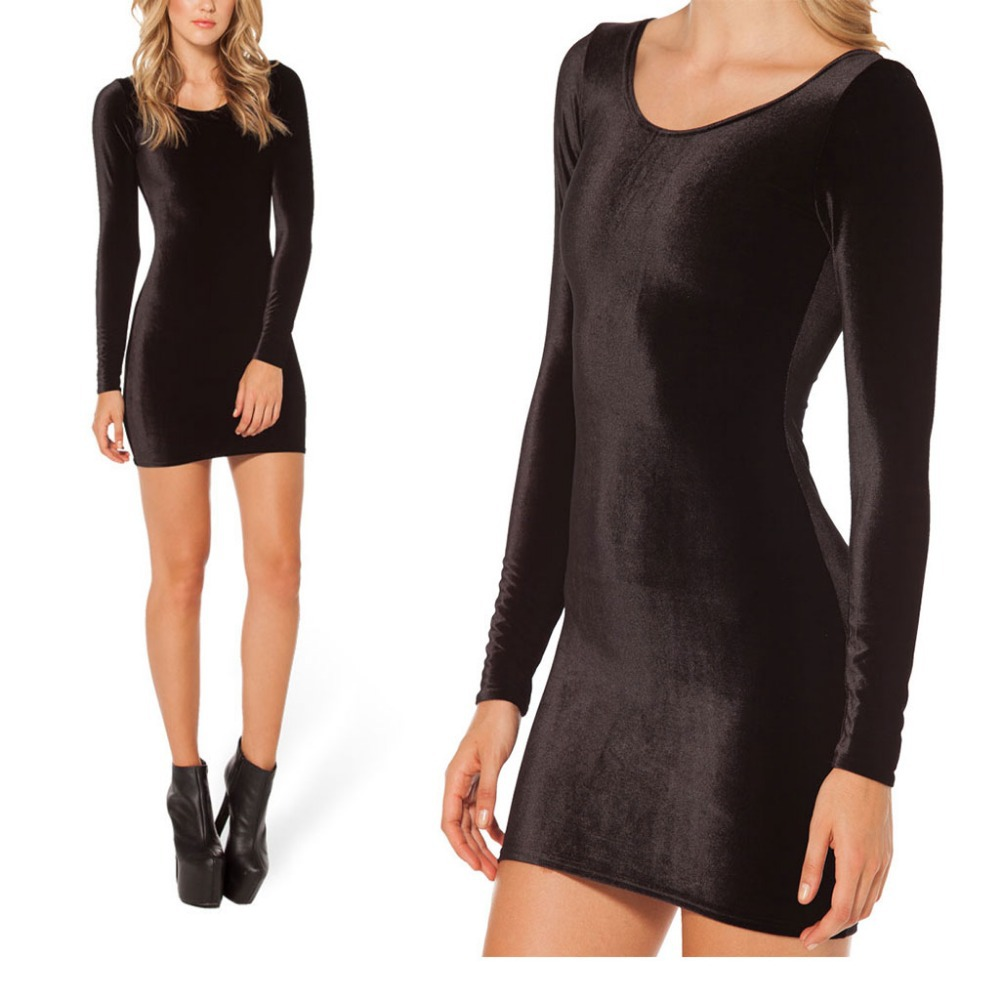 ... -Long-Sleeve-Velvet-Dress-Mini-Black-Sexy-Bandage-Dress-Bodycon.jpg