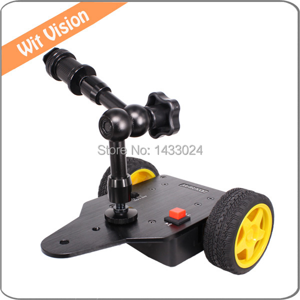 Motorized camera slider dolly cart with 7 inch magic arm Motorized video slider