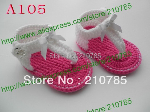 Summer Baby hand-woven sandals Baby White Plum crochet toddler shoes Newborn Cotton yarn shoes Free Shipping 5pair/lot(China (Mainland))