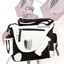 Hot Japan Anime Attack on Titan Messenger Bags Shingeki no Kyojin Aren Survey Corps Wings of Liberty Canvas Satchel Shoulder Bag