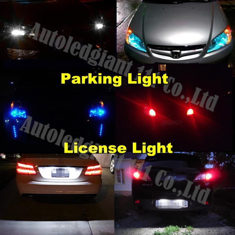 COB T10 Led No OBC Error W5W Led Auto Parking Light Interior License Plate Sidemarker Bulb