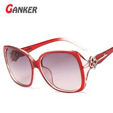 2016 New GANKER Women Sunglasses Flower Key Anti-Reflective UV400 Sun Glasses Women's Brand Designer Sunglasses Fashion Eyewear