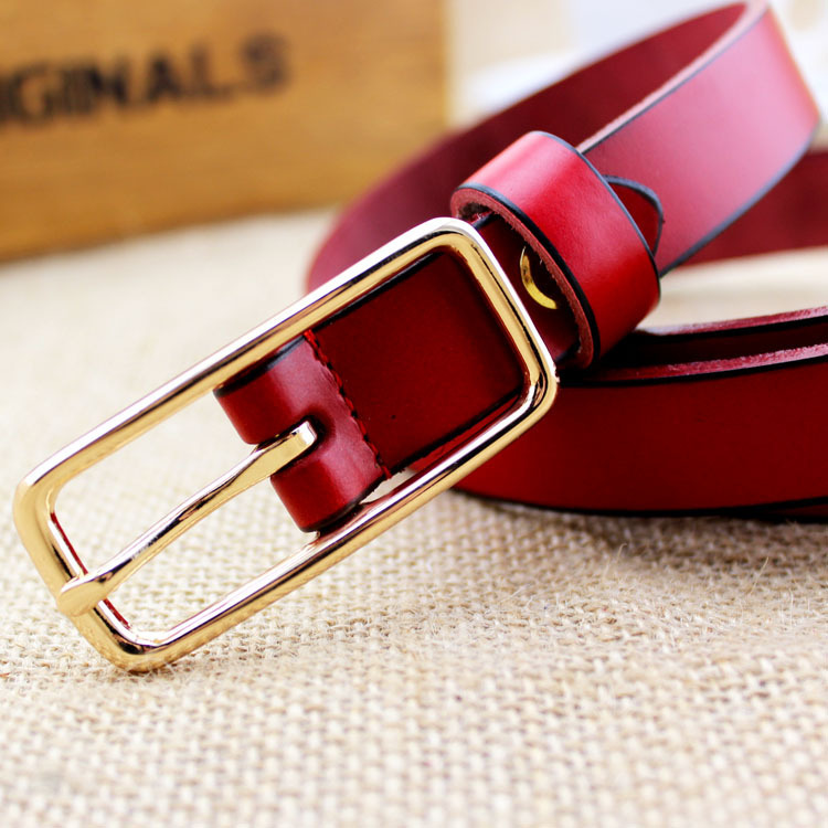 2015 Free Shipping New Fashion Leather Belt Cinto Feminino Belt For Women Women's Belts Cowskin Solid Metal Brand Buckle,kw21(China (Mainland))