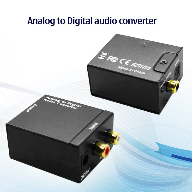 50pcs/lot Analog to Digital audio RCA Optical Coaxial converter adapter free shipping(China (Mainland))