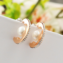 korean earrings crystal jewelry studs wedding love famous brand 0280/PR YY0316 - Civilians Princess Jewelry store