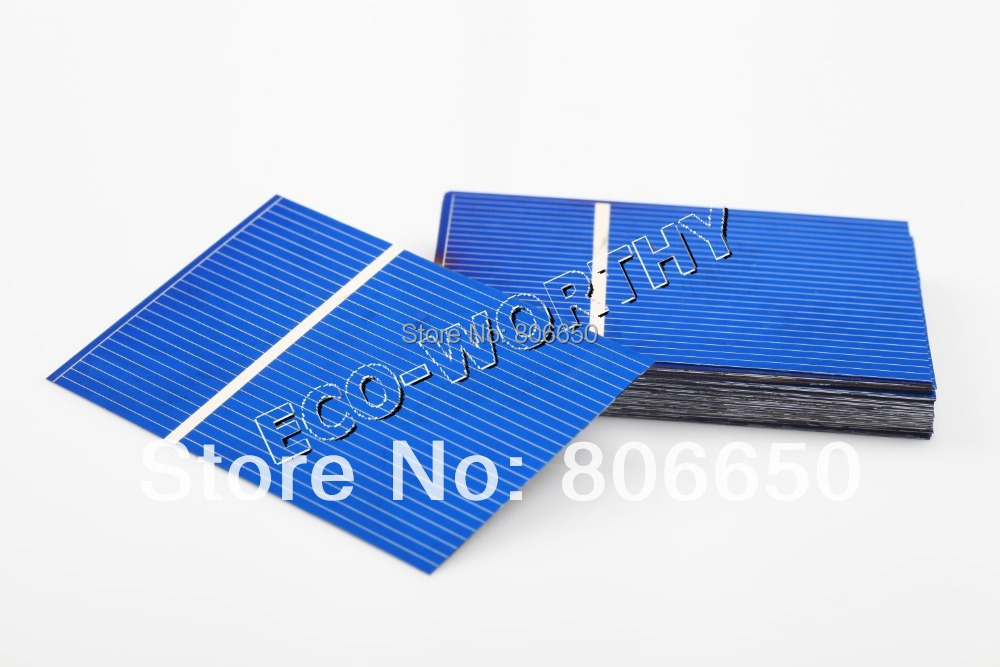 Célula Solar Kit Completo 40 unids 52x76mm Panel Solar Tab Alambre Alambre de Bus Flujo Pluma Portátil BRICOLAJE, envío Gratis(China (Mainland))
