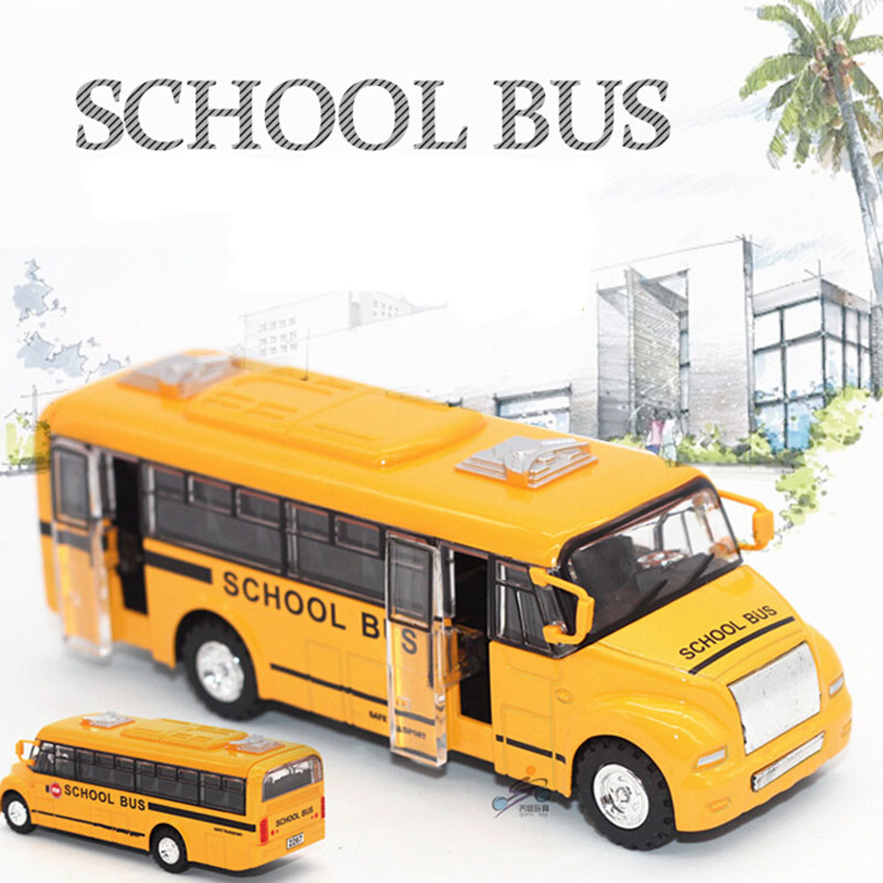 Diecast Alloy car model car toy metal material car hot wheels American Style school bus ally toy big bus onibus C1004(China (Mainland))