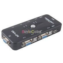 4 porte usb 2.0 kvm vga switch box hub adattatore per mouse tastiera monitor del pc us as #44438(China (Mainland))