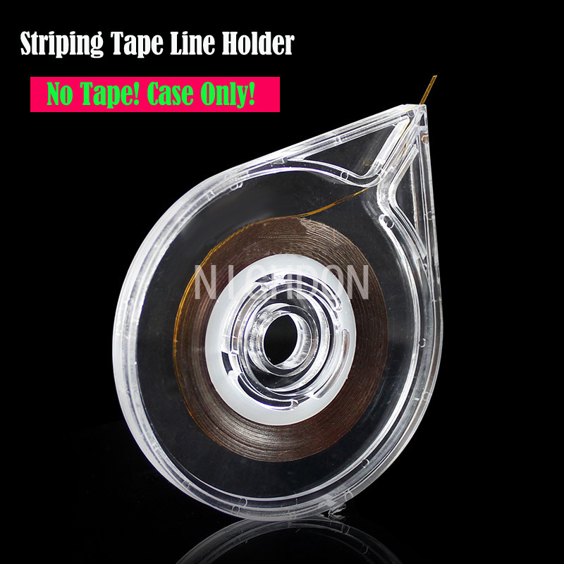 New Nail Art Striping Tape Line Case Tool Sticker Adhisive Nail Line Roll Box Nails Art Tape Holder Tools Without Tape NTL0004(China (Mainland))