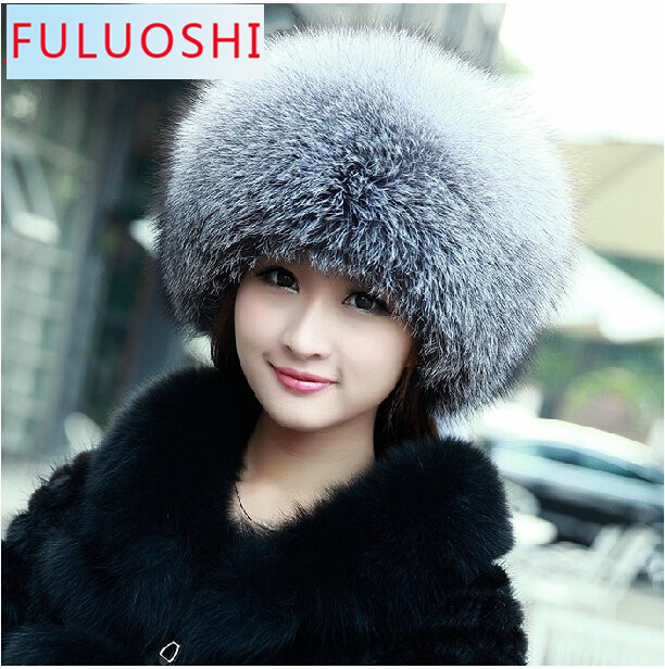 Really warm fur hat leather hat woman Ribbon 100% real fur and leather. Silver blueОдежда и ак�е��уары<br><br><br>Aliexpress
