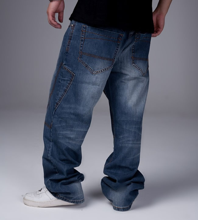 Best Wholesale 2015 New Baggy Pants Jeans Men Famous Brand Rock Wear Denim Jeans Plus Large Size ...