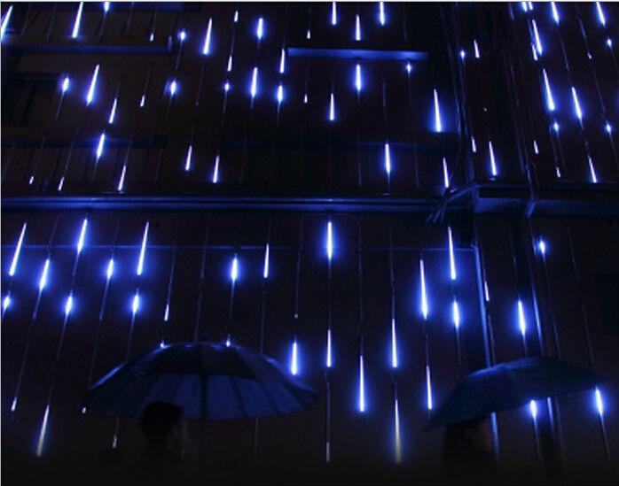 80cm 3528smd Meteor Shower Rain Tubes LED Christmas Lamp Wedding Garden Decoration String Light Festival Party Lighting x 20pcs(China (Mainland))