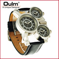 2016 New Guangzhou OULM Fashion Watch Designer Hot Watch Genuine Leather Sport Watch Wristwatch