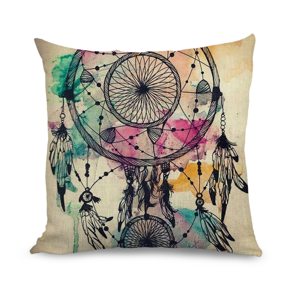 Wholesale 18x18 inch Cushion Cover Watercolour Design Decorative Pillow Covers for Sofa-in ...