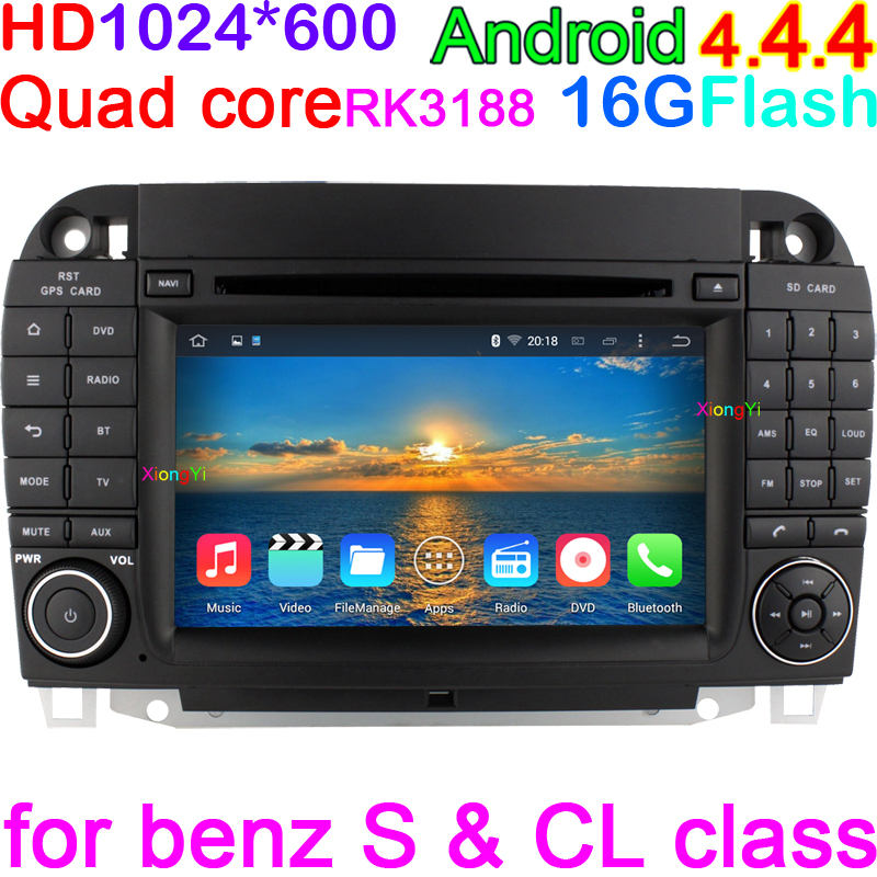 Android 4.4.4 Quad Core Car DVD GPS For mercedes w220 Benz S280 S320 S350 S400 S420 S430 S500 S600 With CANBUS Car PC MultiMedia(China (Mainland))