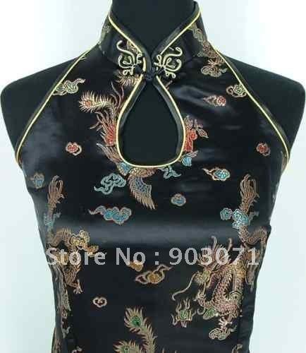 2015 new Sexy Satin Women's Evening wear Dress vestidos Cheong-Sam S- 3XL wholesale/retai