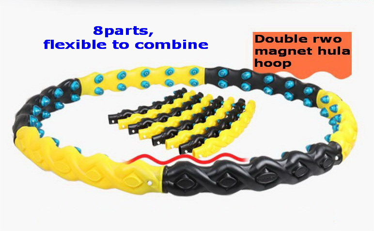 free shipping 8 parts detachable double row magnet healthy hula hoop with biggest diameter 110cm easy to install(China (Mainland))