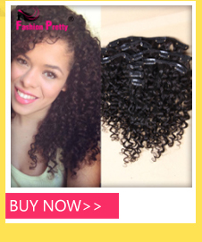 Afro Kinky Curly Clip In Human Hair Extensions Brazilian Virgin Human Hair African American Clip In Extensions 10″-26″ Clip Ins