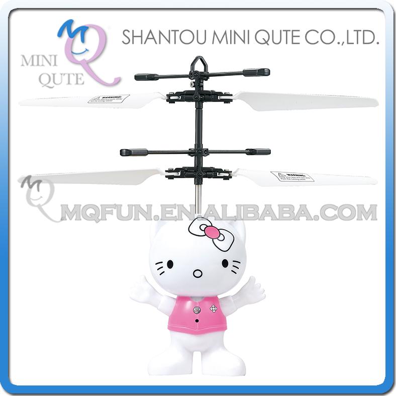 80 шт/много мини qute светодиодный пульт дистанционного управления RC вертолет летающий мультфильм Привет Китти Cat модель куклы детские электронные игрушки нет.CK820A-8