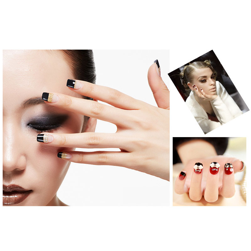 5pcs DIY French Manicure Nail Art Decorations Water Transfer Nail Sticker For Nails Accessoires Fashion Beauty Nail Tattoos(China (Mainland))