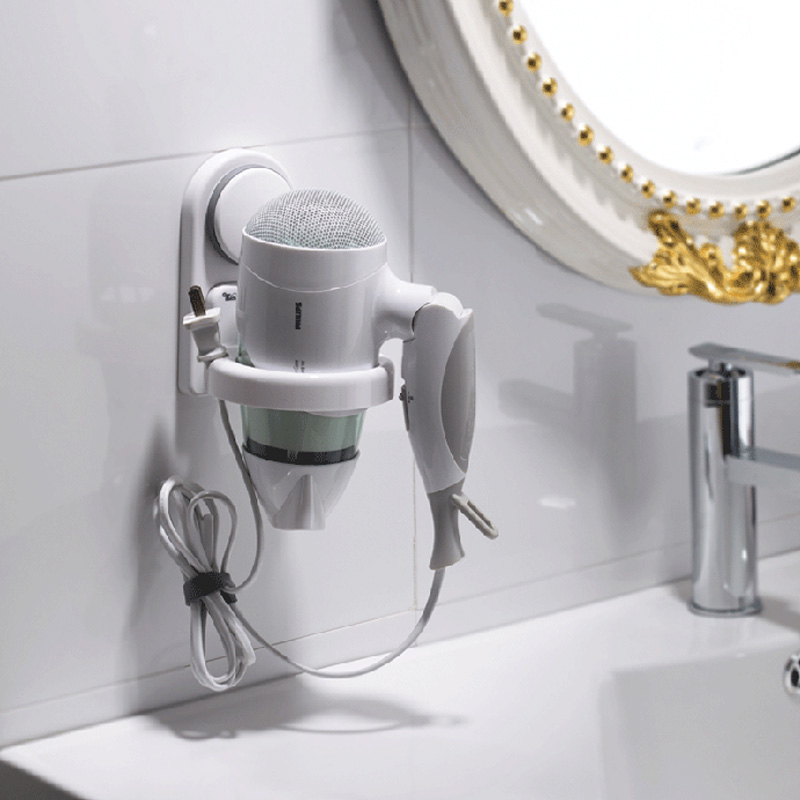 The Hair Dryer Housing Rack Bathroom Sucker Hanging Storage Rack Hair Dryer Holder Instorage