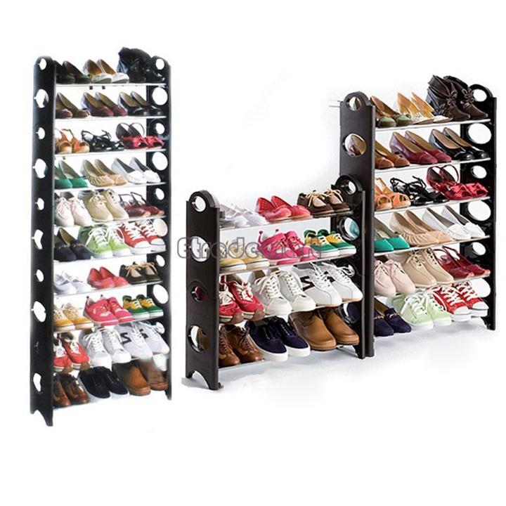 50 Pair 10 Tier Home Shoe Rack Shelf Storage Closet Organizer Cabinet Portable DIY Shoe Hanger High Quality 2015 US51(China (Mainland))