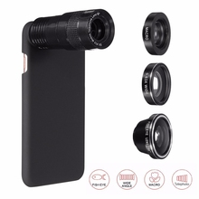 Buy 5 1 9X Zoom Telephoto 0.63X Wide Angle Macro Fisheye 180 Degree Phone Camera Lens Cover Case iPhone 7 7 Plus for $11.32 in AliExpress store