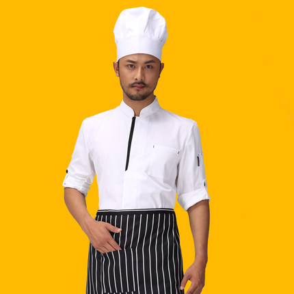 high quality 2016 long-sleeved Chef service Hotel working wear Restaurant work clothes Tooling uniform cook Tops White  colorОдежда и ак�е��уары<br><br><br>Aliexpress