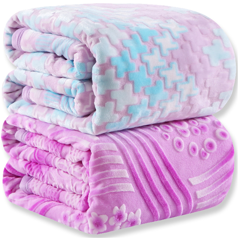 3d effect flannel blanket summer/spring coral fleece blanket bed sheets cover towel air conditioning blanket queen king size(China (Mainland))