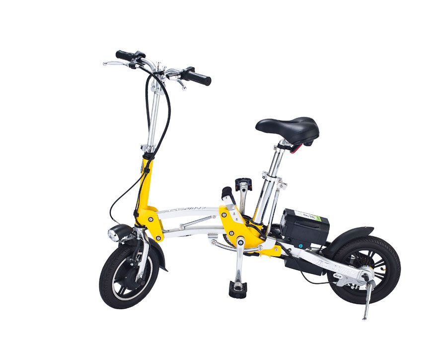 Mini Folding Electric Bike Foldable Bicycle Smart Lithium Battery 12