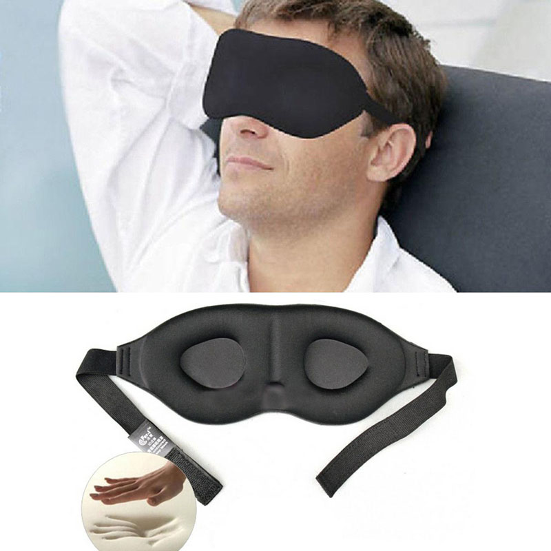 Eyeshade Travel Sleep Eye Mask 3D Memory Foam Padded Shade Cover Sleeping Blindfold for Office Free Shipping Factory Price