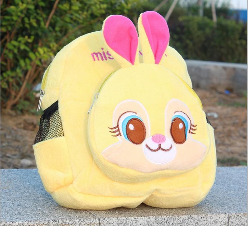 1PC New Fashion Cute Rabbit Or Fox Peluche Plush Stuffed Toddler Backpack Kindergarten Snacks Bag Kids Toy