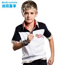 2015  boy 100% short-sleeve cotton child shirt summer(China (Mainland))