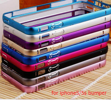 bumper on for iPhone 5sBumper Frame Case Cover for iPhone 5 5S Ultr a Thin Slim case cover for iphone 5 5s Case(China (Mainland))