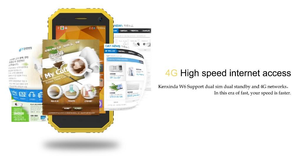Original Kenxinda 4.5 Inch Android 5.1 MTK6735 1GB+8GB Quad Core 4G LTE 5.0MP+2.0MP Camera IP68 Waterproof Rugged Smartphone