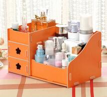 House Scenery Houseware Large Cosmetics Wood Storage Box Drawer DIY Jewelry Cosmetics Receive A Case Makeup Organizer(China (Mainland))
