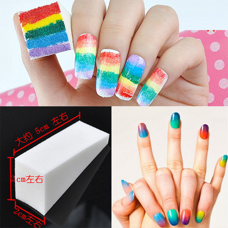 8pcs New Woman Salon Nail Sponges Makeup Manicure Nail Art Accessory Stamp Stamping Polish Transfer DIY UV Acrylic Nail Tools(China (Mainland))