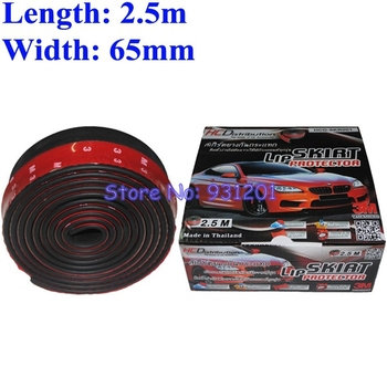Free Shipping Universal TPVC Front Bumper Lip Skirt Protector Multideflector Front Bumper Strip Car Scratch Proof Adhesive Strip