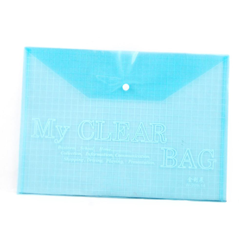 IMC Wholesale 5 in 1 A4 Stud Plastic Popper Files Folders Document Wallet Office Depot Study(China (Mainland))
